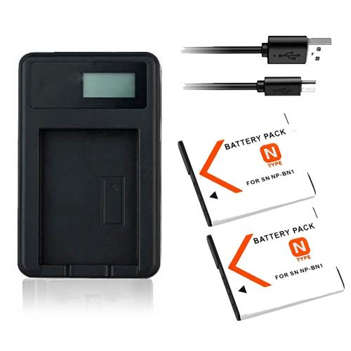 NP-BN1 Battery Charger for Sony DSC-W830 DSC-W810 DSC-W800 DSC-W730 DSC-W710