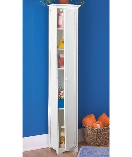 new cedar slim storage cabinet natural white or black tall shelf book case wood ebay. Black Bedroom Furniture Sets. Home Design Ideas
