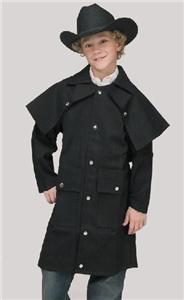 The original duster coat was a loose-fitting long coat that was worn by cowboys and other horsemen to protect their clothing from the trail dust of cattle drives. These duster coats usually had slits up the back for riding ease but often had the capability to be buttoned closed. Legs straps were.
