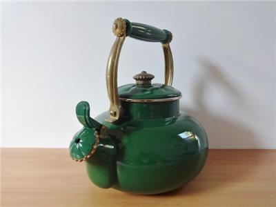 country kettle kitchen vintage style country kitchen green enamel kettle ebay 2720
