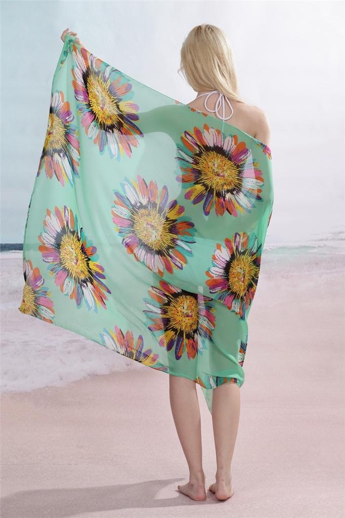 Women S Sheer See Through Chiffon Beach Swimsuit Swim
