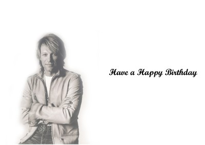 PERSONALISED JON BON JOVI BIRTHDAY CARD – Bon Jovi Birthday Card