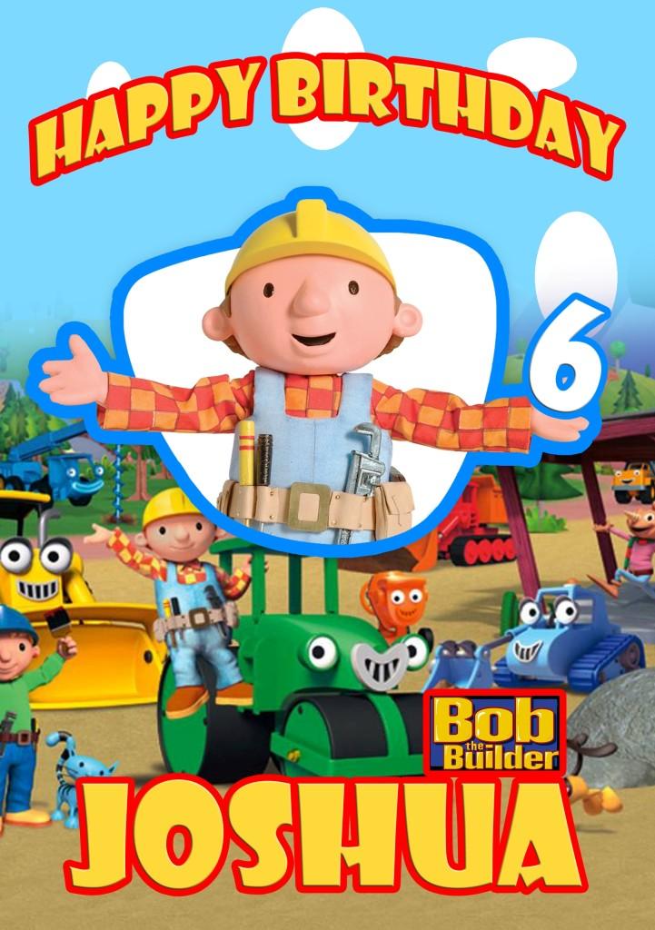 PERSONALISED BOB THE BUILDER BIRTHDAY / PHOTO CARD