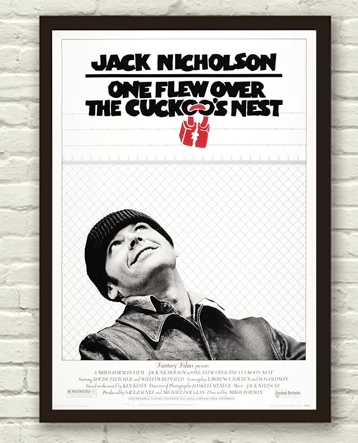 One Flew Over The Cuckoos Nest Quotes: Vintage One Flew Over The Cuckoo's Nest Movie Film Poster