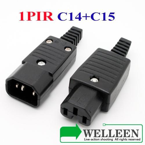 1pair Iec 320 C14 C15 Connector C14 C15 Plug Ebay