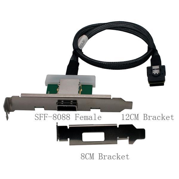Amphenol Mini Sas 36 Sff 8087 To External Sff 8088 Female