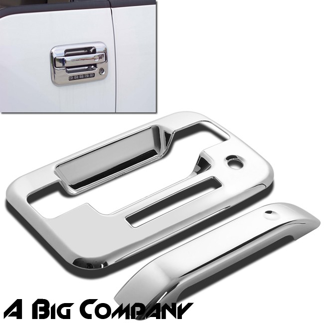 04 11 12 Ford F150 Crew Cab Mirror Chrome Side 4 Door Handle Covers Lid Accent