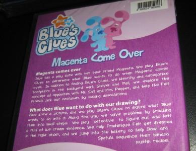 BLUE'S CLUES Magenta Come Over 2 EPS OFFICIAL DVD REG 0 | eBay