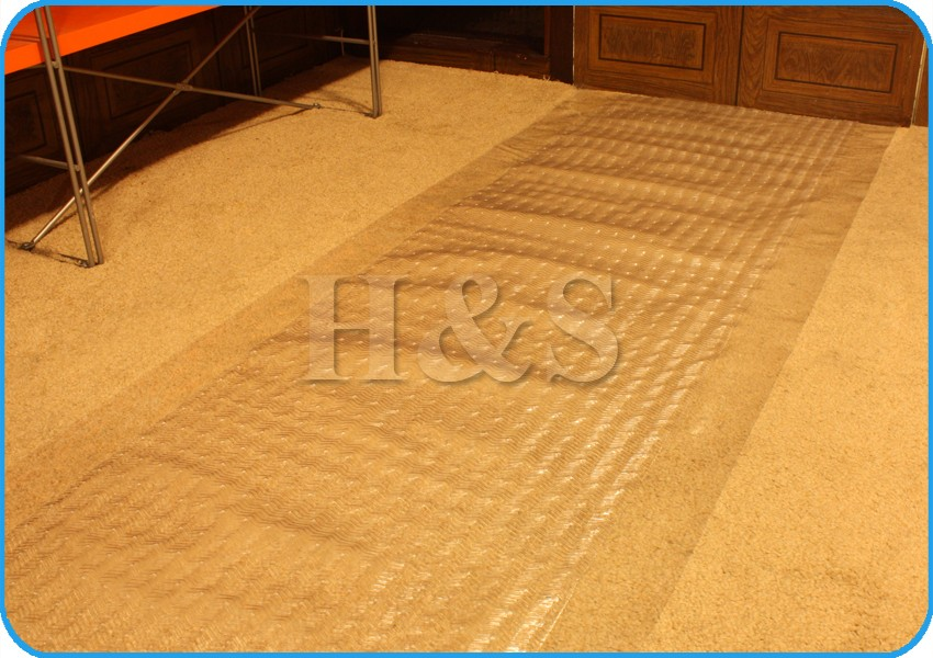 Heavy Duty Vinyl Plastic Carpet Protector Runner Office