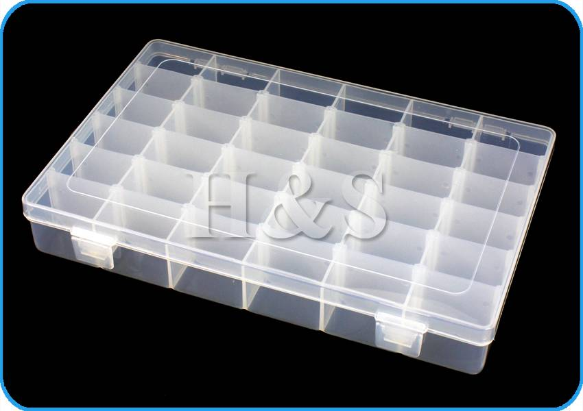 Clear plastic craft beads jewellery storage organiser for Quality craft tool box