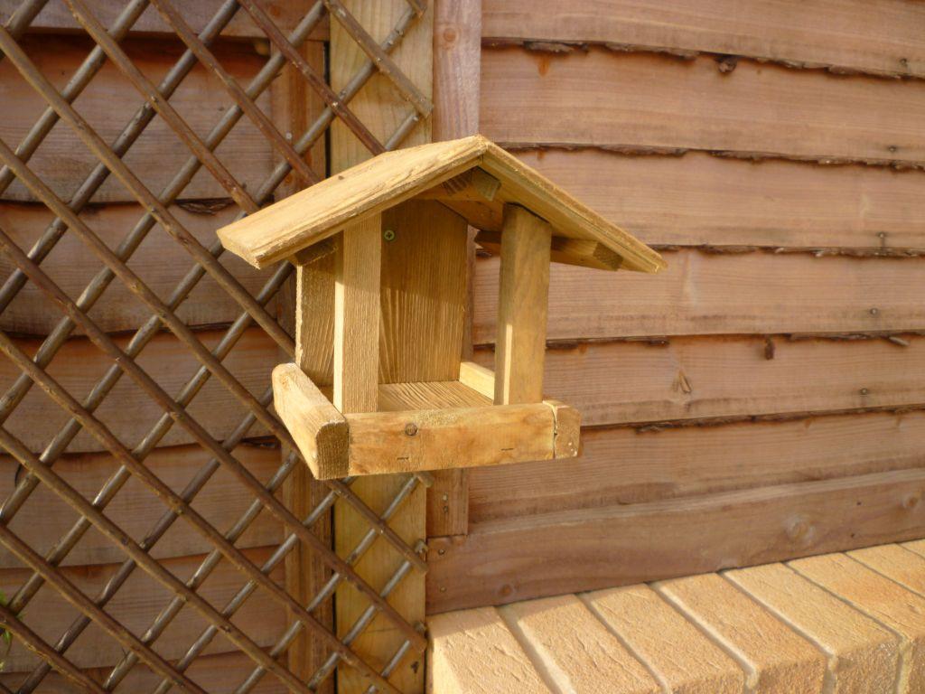 Solid Wood Bird Feeder Table Wall Mounted Ebay