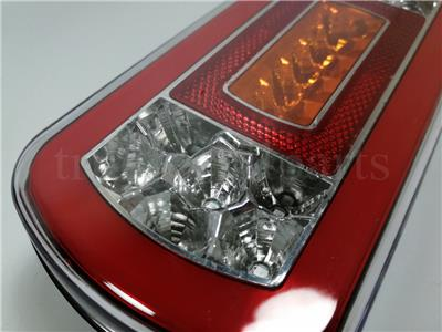 2x 24V LED NEON Glow-track Halo Rear Tail Light Lamp fit Truck Lorry Trailer HGV