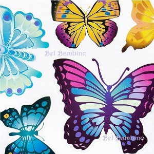 FLUTTERING BUTTERFLYS Kids Removable Wall Sticker Decal