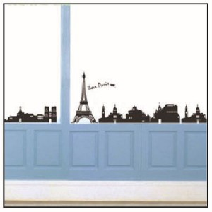 LOVE PARIS Removable Wall Stickers Decal Home Decor