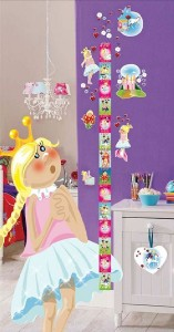 GIRLS HEIGHT / GROWTH MEASURE CHART   Wall Stickers