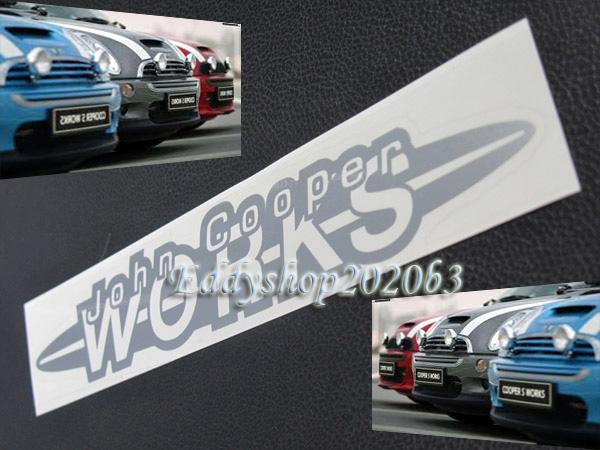 2 Pcs John Cooper Works Sticker JCW Mini s R53 R56 BMW CD48