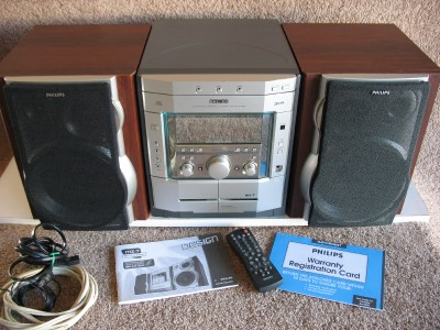 🔥 PHILIPS MAGNAVOX 3 CD STEREO CHANGER SYSTEM & SPEAKERS | eBay