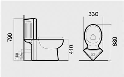 Toilet Wc Corner Bathroom Close Coupled New Ceramic Soft