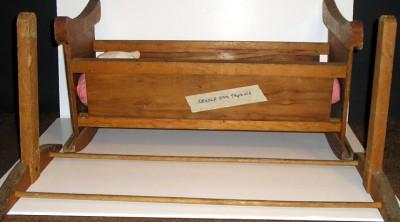 Antique Primitive Baby Doll Cradle Rocking Wood Crib Bed