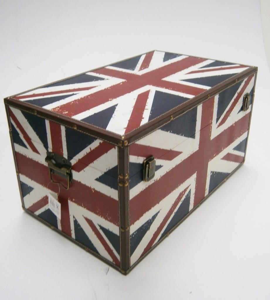 Union Jack England Strong Wooden Storage Unit Chest Box