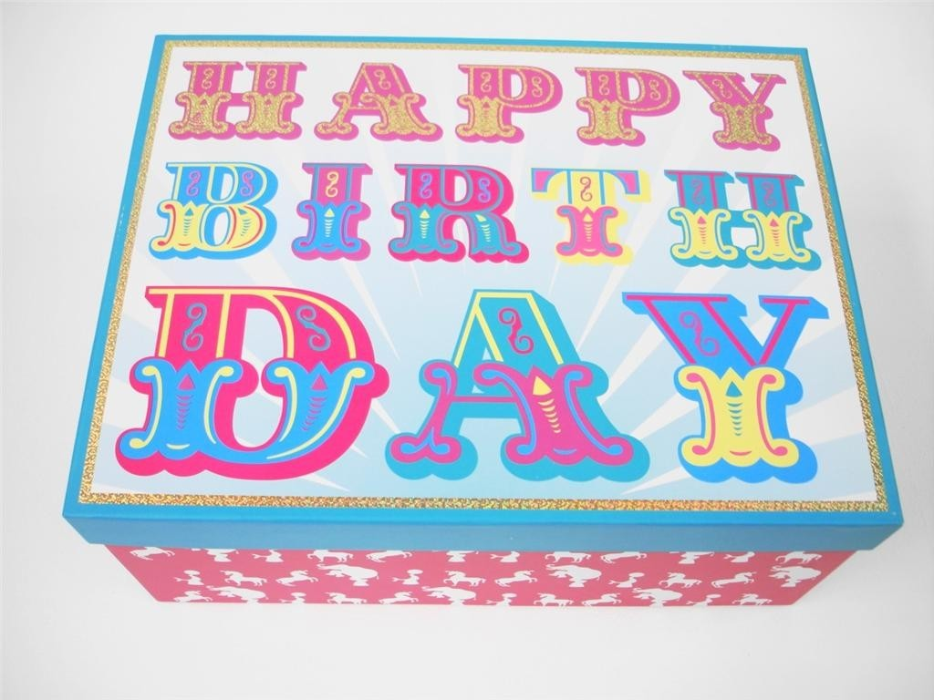 HAPPY BIRTHDAY KIDS DECORATIVE A4 PAPER STORAGE BOXES ...