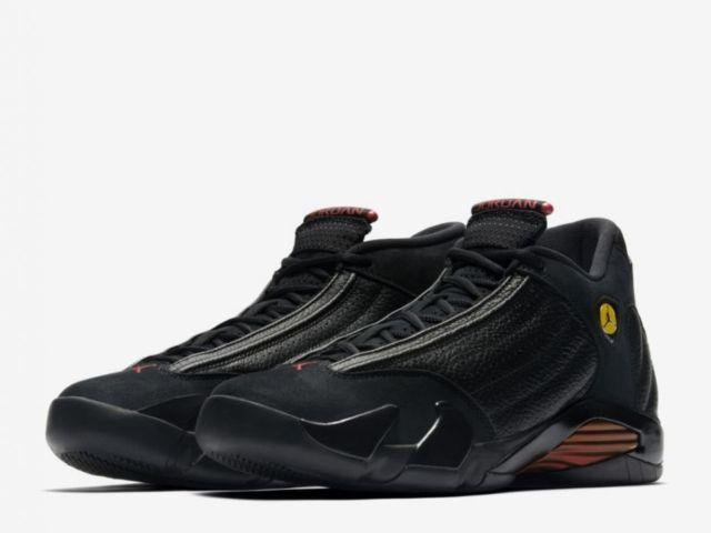 meet 69712 70bfe Details about Nike Air Jordan XIV 14 Last Shot Preschool PS 312092-003 US  10.5C-3Y Black Red