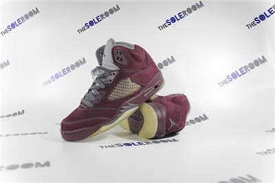 726ce807088e18 Air Jordan 5 V Retro LS Burgundy 314259-602 US 8.5 Red Wolf Grey ...