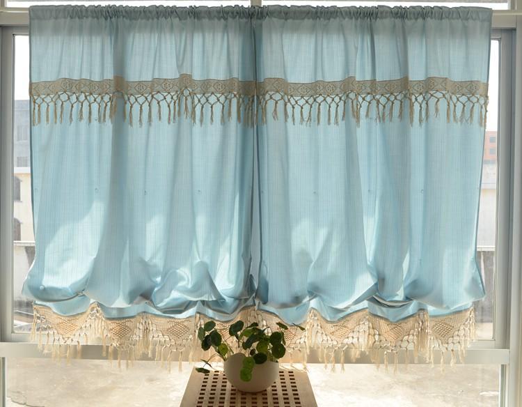 Adjustable Balloon Shade Crochet Hook Lace Curtain