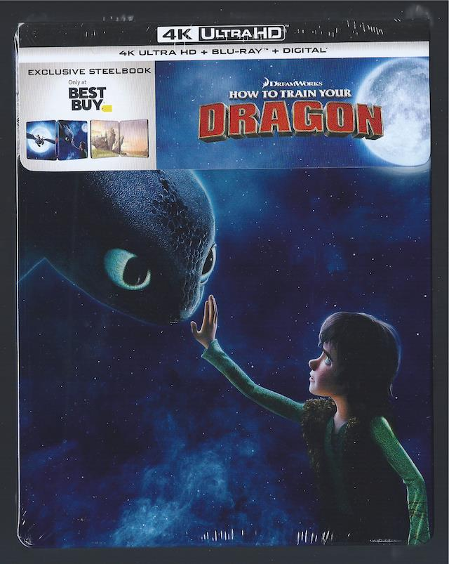 Details about HOW TO TRAIN YOUR DRAGON 1 4K ULTRA HD DVD + BLU-RAY DVD  STEELBOOK *NO DIGITAL*