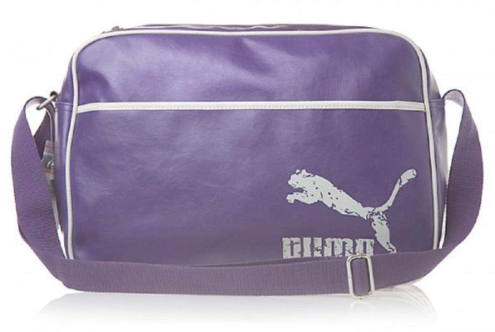 6ee79a2db87e Details about Puma Original Reporter Messenger Travel Holiday Sport Gym  Shoulder Bag Purple