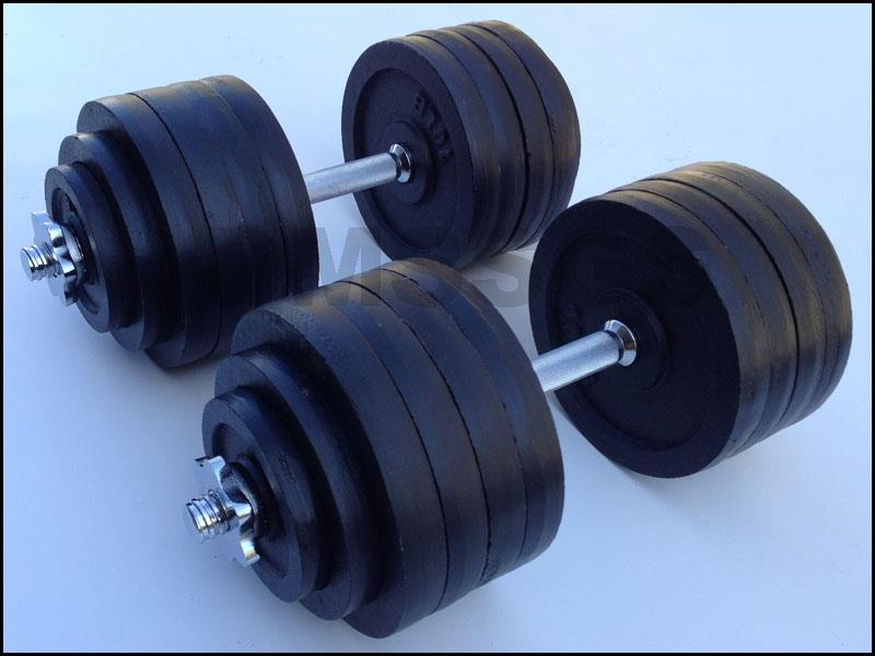 Brand New 200 Lb Adjustable Dumbbell Free Weights Complete Set 100lb X 2pcs Ebay