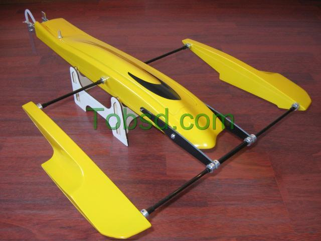 28 inch Poseidon Kit FibreGlass Outrigger Hydroplane Hydro Rigger Rc Boat
