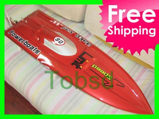ARTR Red  Fibreglass Mono 2 Deep-vee Arowana Racing Boat