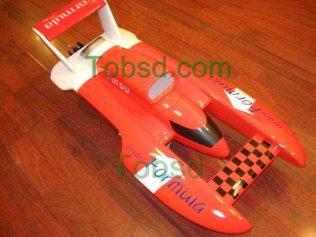27.5 inches Red RC Electric FibreGlass Hydroplane hydro ARTR Boat