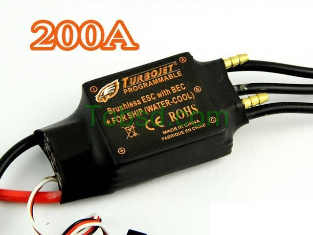 200A Water Cool Brushless Motor ESC for Boat with BEC Free Shipping