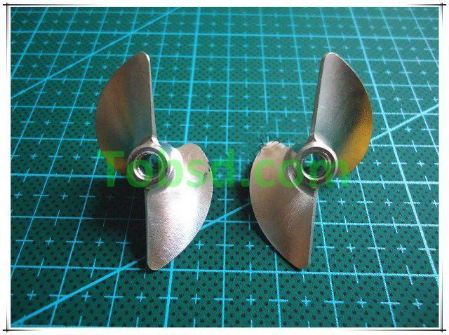 2 blades Dia 36mm CNC One pair left + right Propellers