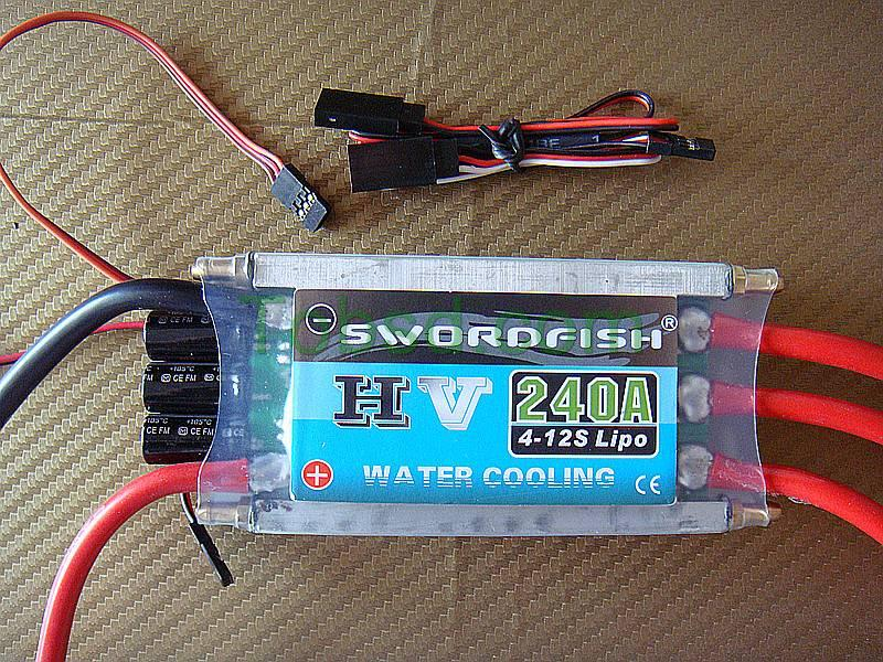 Swordfish 240A Water Cool Brushless Motor ESC for Boat with BEC