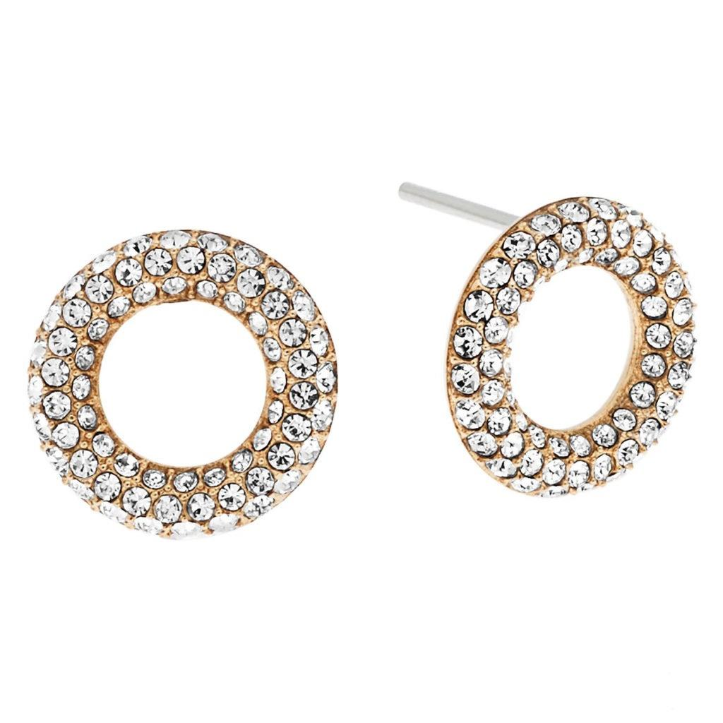 circle silver earrings stud