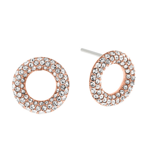 Michael Kors Pavé Crystal Circle Stud Earrings Mkj5842 Mkj5843 Mkj5844 75