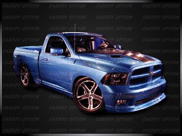 02 08 Dodge RAM1500 Challenger Style Functional RAM Air Fiberglass Engine Hood