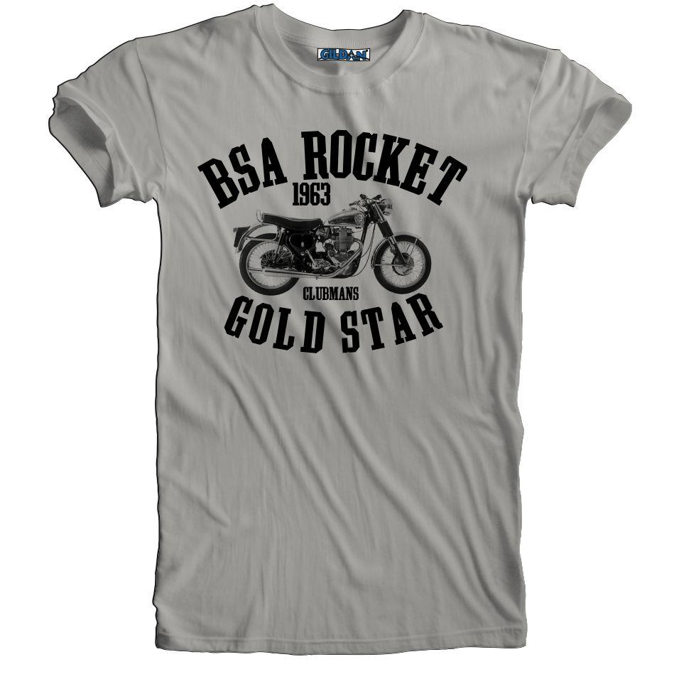 Vintage Retro BSA Gold Star Rocket Motorcycle Biker T ...