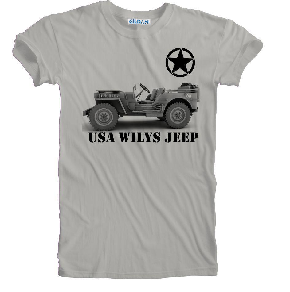 New USA Army Vintage Retro WW 2 Wilys Jeep T-shirt Sizes S ...