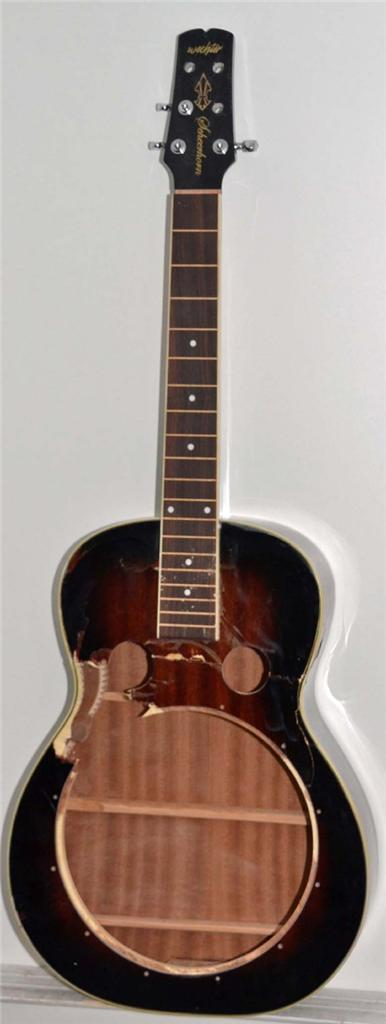 wechter rs 6510r mahogany resonator guitar repair project. Black Bedroom Furniture Sets. Home Design Ideas
