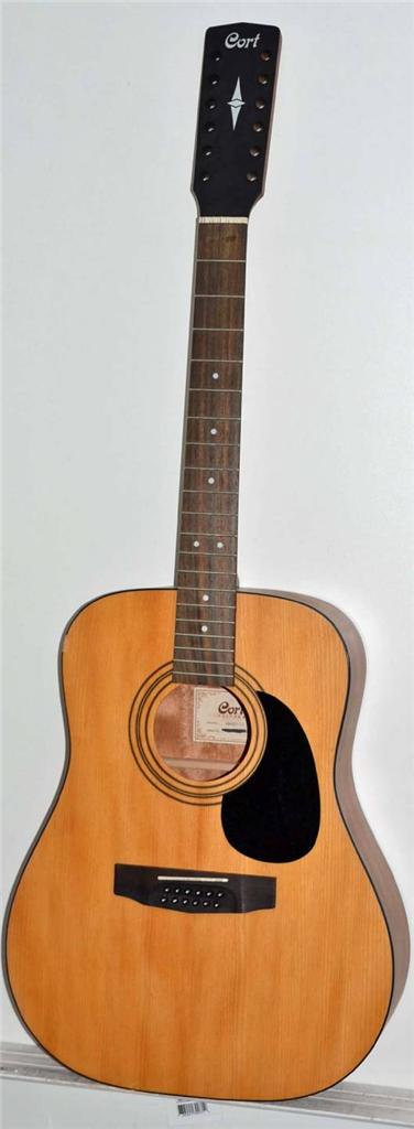 cort ad810 12 string acoustic guitar repair project good for experienced luthier ebay. Black Bedroom Furniture Sets. Home Design Ideas