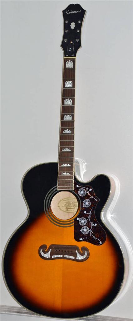 epiphone ej 200ce vs acoustic electric guitar project repairs started ebay. Black Bedroom Furniture Sets. Home Design Ideas