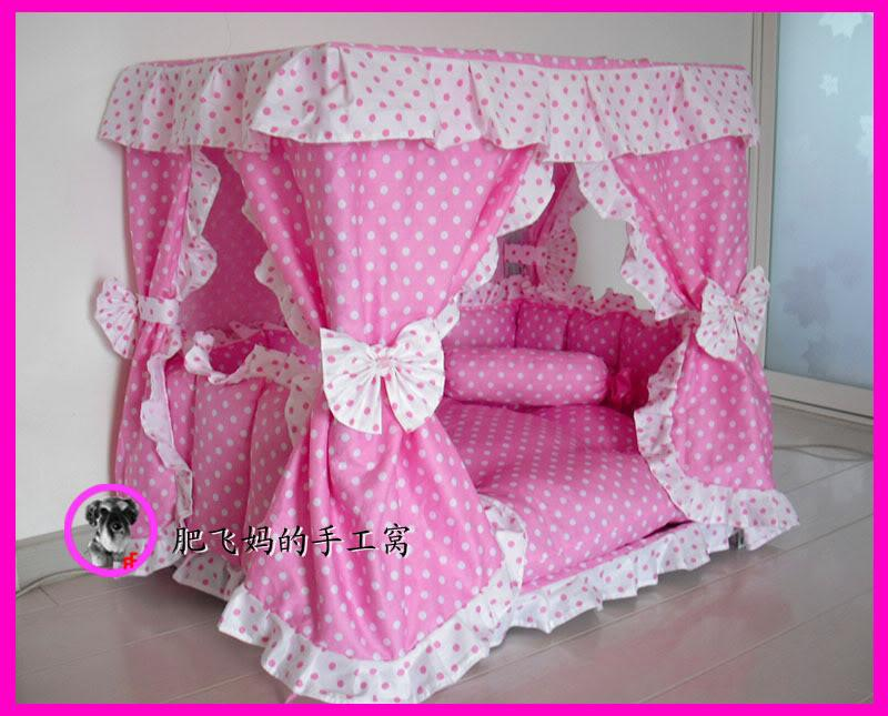 Charm Princess Pet Dog Cat Handmade Bed House Kennel 1 Candy