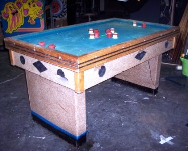 Vintage coin operated bumper pool