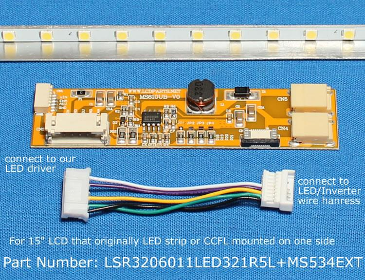 """Replacement LCD controller Kit for NEC NL10276BC30-33D 15/"""" Industrial LCD screen"""