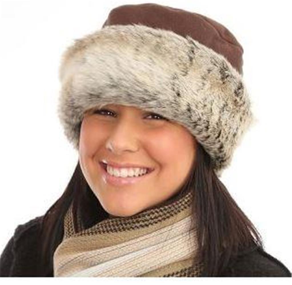 WOMENS FAUX FUR WINTER COSSACK RUSSIAN HATS LADIES FLEECE ...