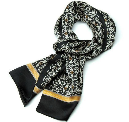 Gift Mens 100 Silk Mulberry Long Scarf Cravat Double